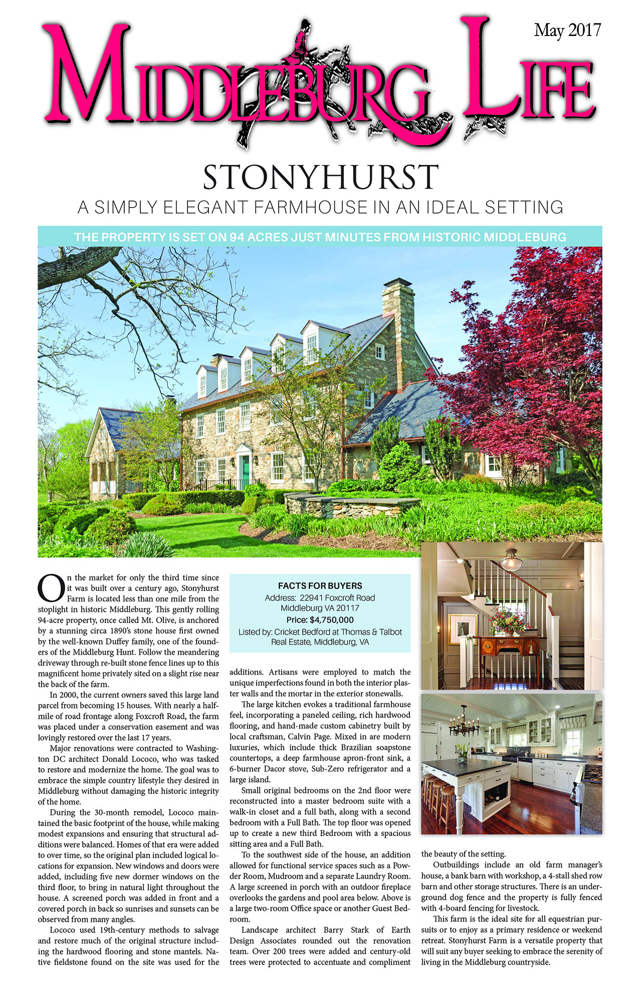 Thomas Talbot Exclusive Real Estate Middleburg Virginia - In The News